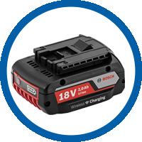 Bosch Wireless Charging Li-Ion Akku GBA18