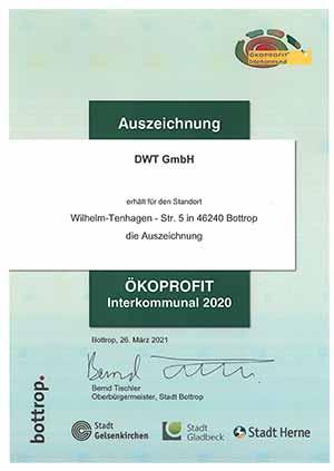 Auszeichnung Ökoprofit